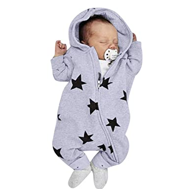 3691730d23bb2 パジャマ アンサンブル Timsa かわいい 星星柄 ロンパース ベビー服 女の子 赤ちゃん服 幼児 子供服 男の子 フード