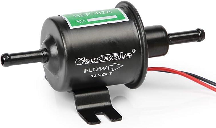Carbole Hep02a Universal Kraftstoffpumpe 12 V Elektrisch Messing 4 7 Psi Niederdruck Inline Kraftstoffpumpe Diesel Benzin Auto
