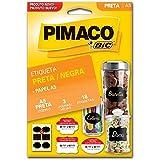 Etiqueta adesiva p/Sortidas codificação 50x65mm preta 3fls c/6estiquetas - Pimaco