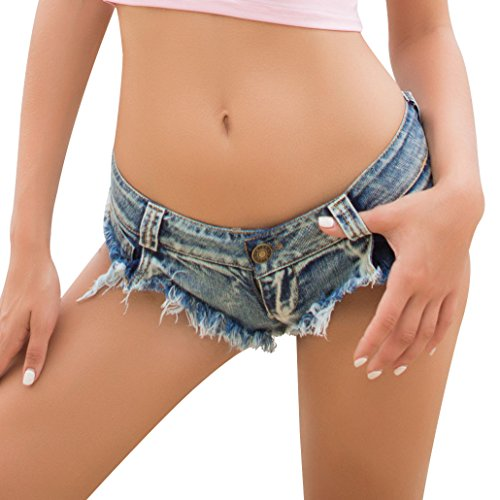 Low Rise Mini Denim Shorts Denim Thong Beach Jeans Shorts