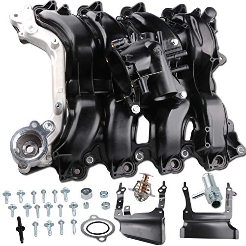 MOSTPLUS 329-135 Upper Engine Intake Manifold w/Thermostat Kit For Ford Lobo E-150 E250 F-150