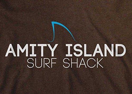 Mandíbulas de bolsa isla Shack Amity Retro surf marrón mensajero YYZr1w