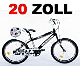 20' 20 Zoll Kinderfahrrad Kinder Jungen Fahrrad Bike Jugendfahrrad Jugendrad KICK SCHWARZWEISS