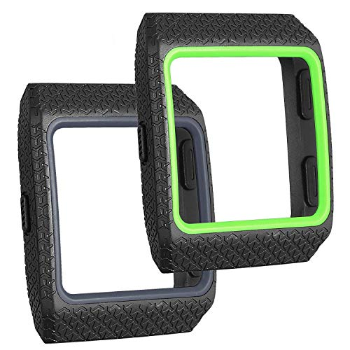 SKYLET Compatible with Fitbit Ionic Case 2 Pack Soft Protective Case Shock Resistant Shell TPU Border Durable PC Cover Compatible with Fitbit Ionic Smart Watch