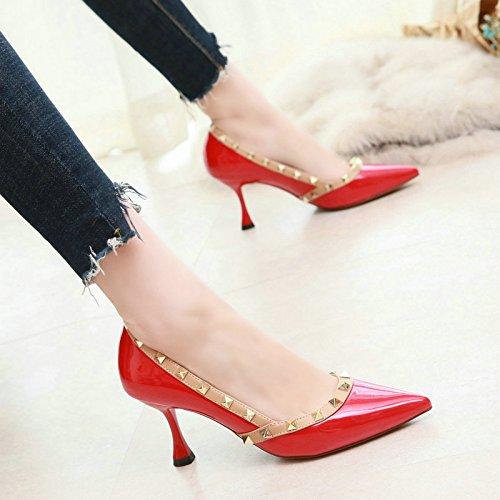 piatta scarpe a spillo a da a Scarpa a YMFIE Pink donna eleganti punta piatta tacchi punta abbinate 76vnxqY
