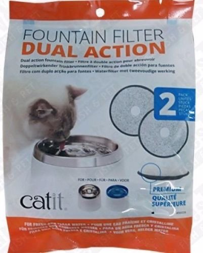 Catit Fresh & Clear Dual Action Replacement Filters (2 Filters) (Filter Action)