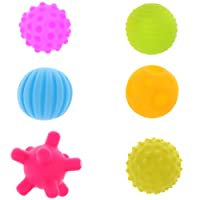 FITYLE Toddlers Baby Sensory Balls Set Soft Balls Educational Toys - 6 Pieces