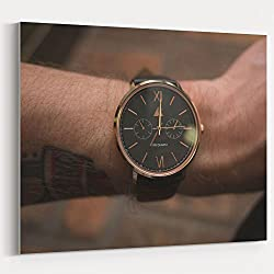 Westlake Art - Watch Clock - 16x20 Canvas Print Wall Art - Canvas Stretched Gallery Wrap Modern Picture Photography Artwork - Ready to Hang 16x20 Inch (EB8A-B84D0)