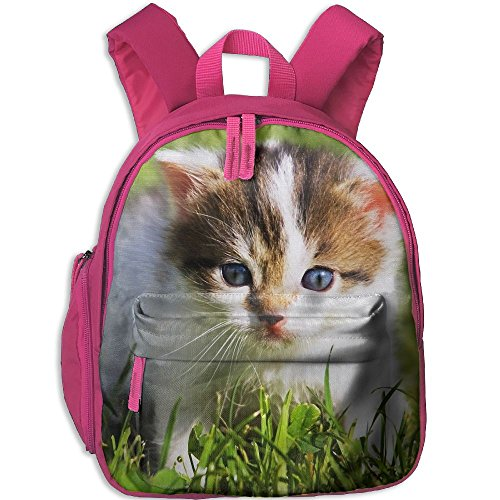 Unisex Baby Kid Cute-Baby-Cat Pre School Bag Backpack Satchel Rucksack Handbag Pink by Fashion Theme Tshirt