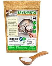 Eritritol 100% Natural Ecologico 1Kg Edulcorante 0 Calorias | Ideal para Reposteria, y Dietas |Edulcorantes DULCILIGHT el sabor natural del azucar.