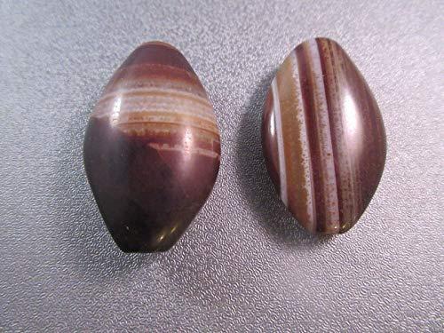 Tibetan Black Sardonyx Agate Beads 2pcs #ID-1539