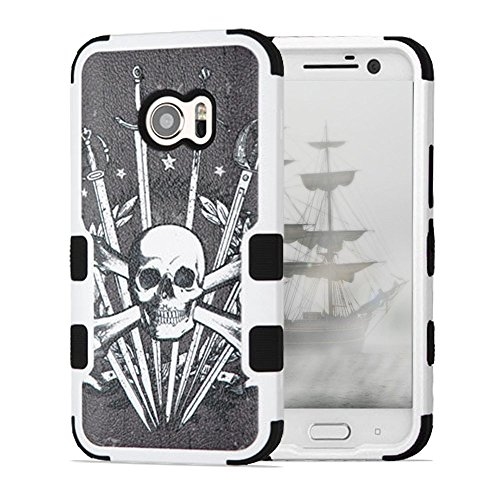 HTC 10 Case, One M10 Case, JoJoGoldStar TUFF Hybrid, Slim Fit Heavy Duty Polycarbonate and Silicone TPU Hard Cover with Stylus and Screen Protector - Sword and - A Halloween Being For Nerd