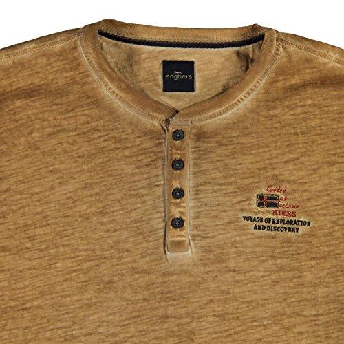 engbers Herren Summerdark Henley Shirt, 23874, Braun