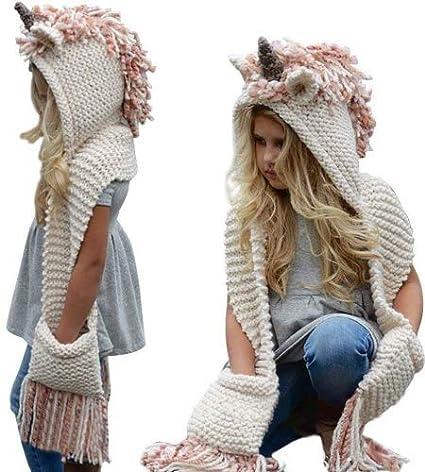 93ab099376e Amazon.com  Umiwe Union Hooded Hat Scarf