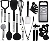 nylon cookware utensils - Cooking Utensils Set – 23 Pieces – Nylon Kitchen Utensils/Gadgets / Cookware Sets – By Lux Décor Collection