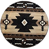 Champion Rugs Southwest Native American Area Rug Berber (7 Feet X 7 Feet Round)