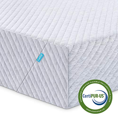 Twin Mattress, Inofia 8 Inch Memory Foam Single Mattress in a Box with Knitted Breathable Cover, Sleep Cooler & More Support, CertiPUR-US Certified, 100 Nights Trial, 10 Years Warranty