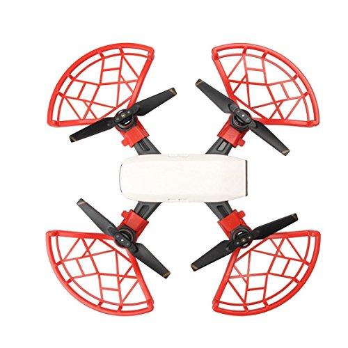 Creazy New 4pcs Props Propeller Guard Bumper Blade Crash Protector For DJI Spark Drone (Red)