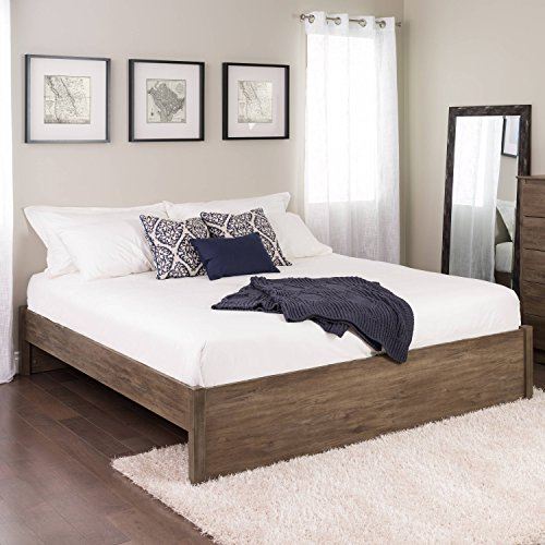 King Select 4-Post Platform Bed, Drifted Gray ()