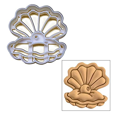 Pearl Oyster cookie cutter, 1 pc, Ideal for nautical theme (Wedding Pearl Tema)