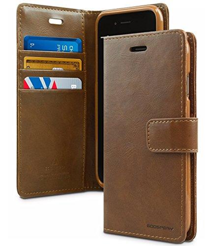 iPhone 7 Hülle, [BLUEMOON DIARY] VENTER® [Wallet Hülle] glatte Kunstleder -Textur [ID-Karte und Bargeld Slot] I / Standplatzabdeckung für iPhone 7