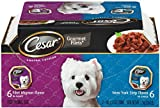 Cesar Canine Cuisine Variety Pack (New York Strip, Filet Mignon) for Small Dogs, 3.5-Ounce Trays (Pack of 24), My Pet Supplies