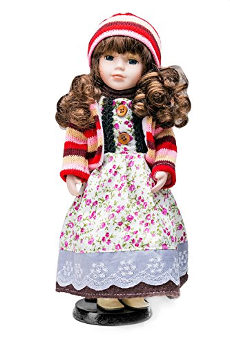 Ideas For Long Curly Hair (Porcelain Doll On Stand 12