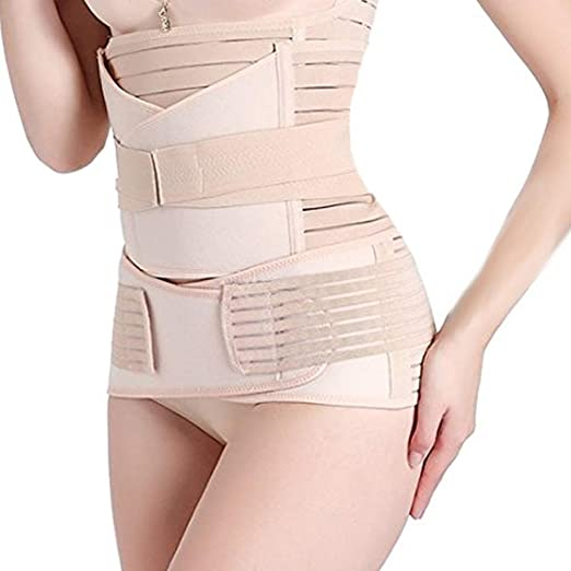 0e8f7f2db2 Pu-ai 3 in 1 Postpartum Support Recovery Belly Wrap Waist Pelvis Belt Body