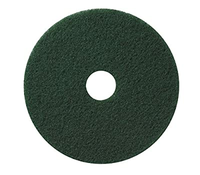 Americo Manufacturing 400318 Green Scrub Floor Scrubbing Pad (5 Pack), 18""