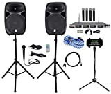 Rockville Professional 15' iphone/ipad/Android/Laptop/TV Karaoke Machine/System