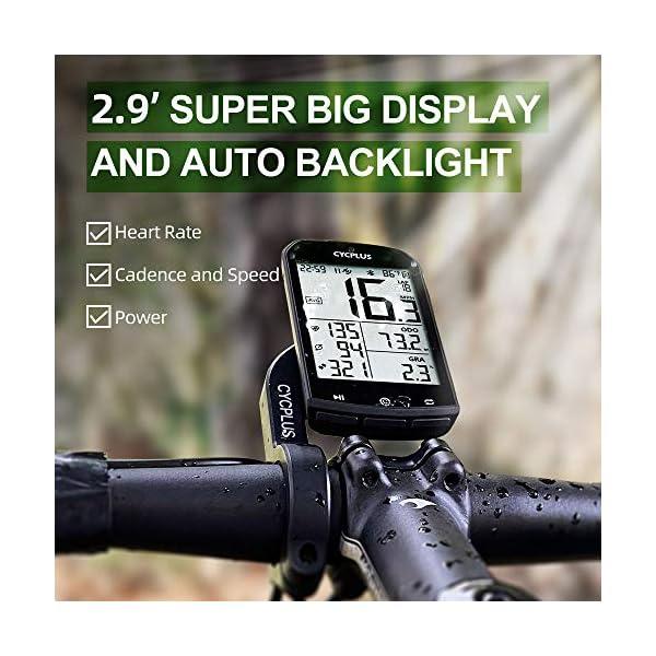 CYCPLUS GPS Ordinateur de vélo Compteur de Vitesse et odomètre de vélo étanche et Compteur Ant + Ordinateur de vélo sans…