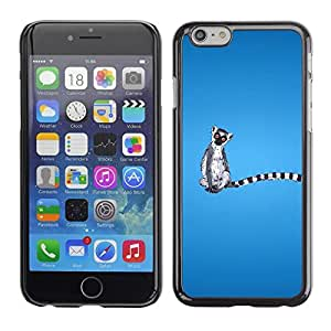LECELL -- Funda protectora / Cubierta / Piel For Apple iPhone 6 Plus 5.5 -- Funny Madagascar Monkey --