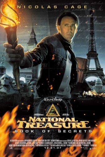 NATIONAL TREASURE: BOOK OF SECRETS (2007) Original Authentic Movie Poster 27x40 - ROLLED - Double - Sided - Nicolas Cage - Jon Voight - Harvey Kettle - Ed Harris