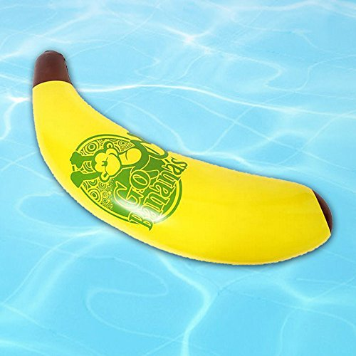 Swimming Pool Float Banana Shape Pool Rafts & Inflatable Ride-ons Swim Float Swimming Pool Equitment for Adult & Children (Yellow)
