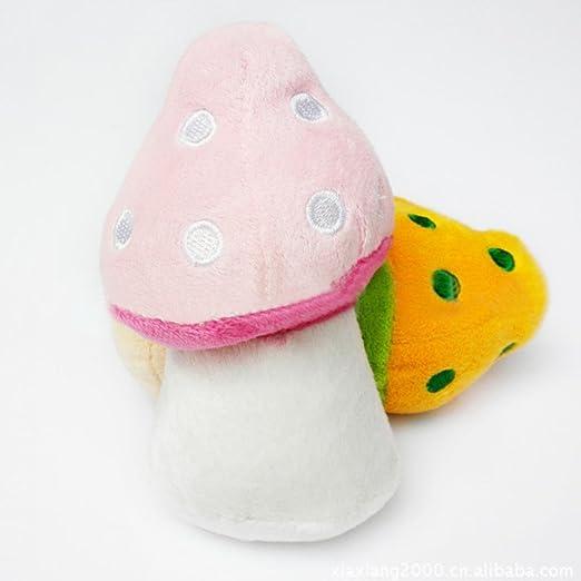 ALCYONEUS Alcioneo carino a forma di fungo peluche a forma di cucciolo di cane masticare dentizione denti pulizia giocare giocattolo