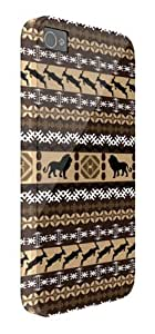 African Tribal Lion Pattern iPhone 5 / 5S protective case (image shows iPhone 4 example) by lolosakes