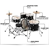 Ludwig-Junior-5-Piece-Drum-Set-with-Cymbals-Black