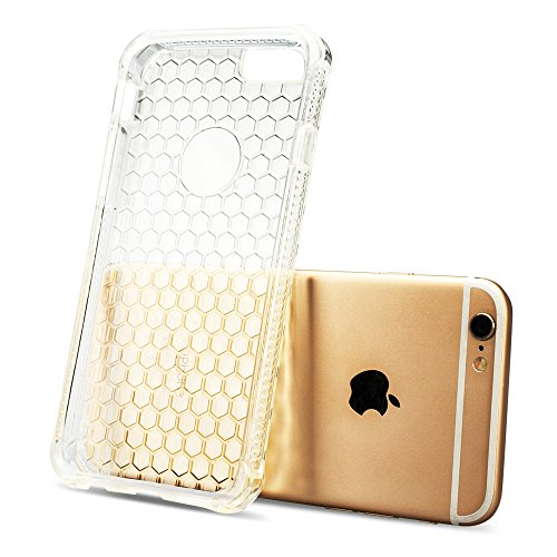 Jisoncase Ultra Slim Handytasche für das iPhone 6s / 6 Hülle Durchsichtig iPhone 6 6s (4,7 Zoll) Schutzhülle Transparent Silikon JS-I6S-02P02