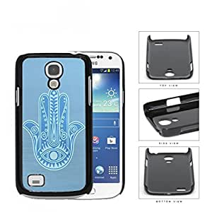 Baby Blue Hamsa Palm With All-Seeing Eye Hard Plastic Snap On Cell Phone Case Samsung Galaxy S4 SIV Mini I9190