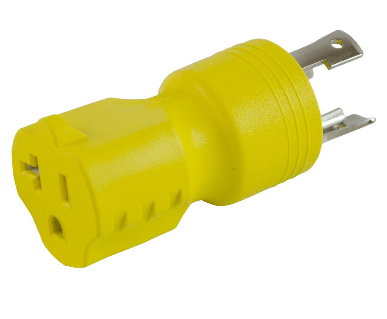 Conntek 30126 L5-30P to 5-15/20R Plug Adapter