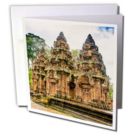 3dRose Danita Delimont - Travel - Banteay Srei, Angkor, Siem Reap, Cambodia - 6 Greeting Cards with envelopes (gc_277067_1)