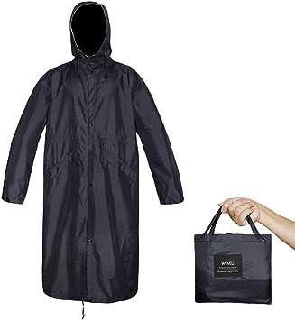 Womens/' Waterproof Lightweight Raincoat Hiking Long Rain Jacket Poncho