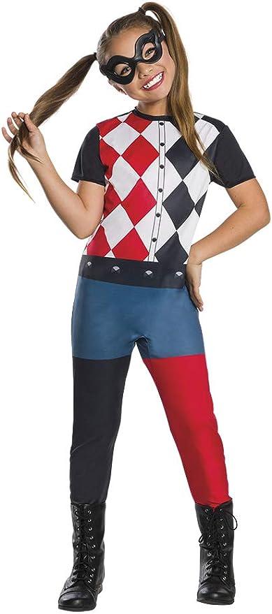 DC Comics - Disfraz de Harley Quinn para niña, infantil 5-7 años ...
