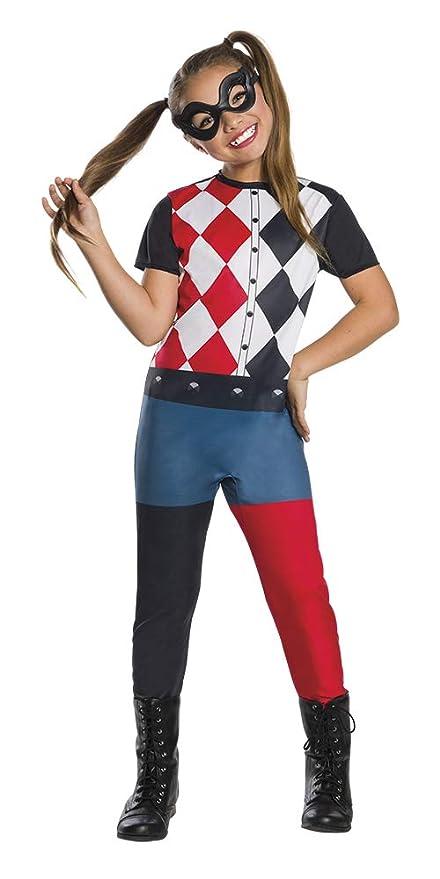 DC Comics - Disfraz de Harley Quinn para niña, infantil 5-7 años (Rubies 640075-M)