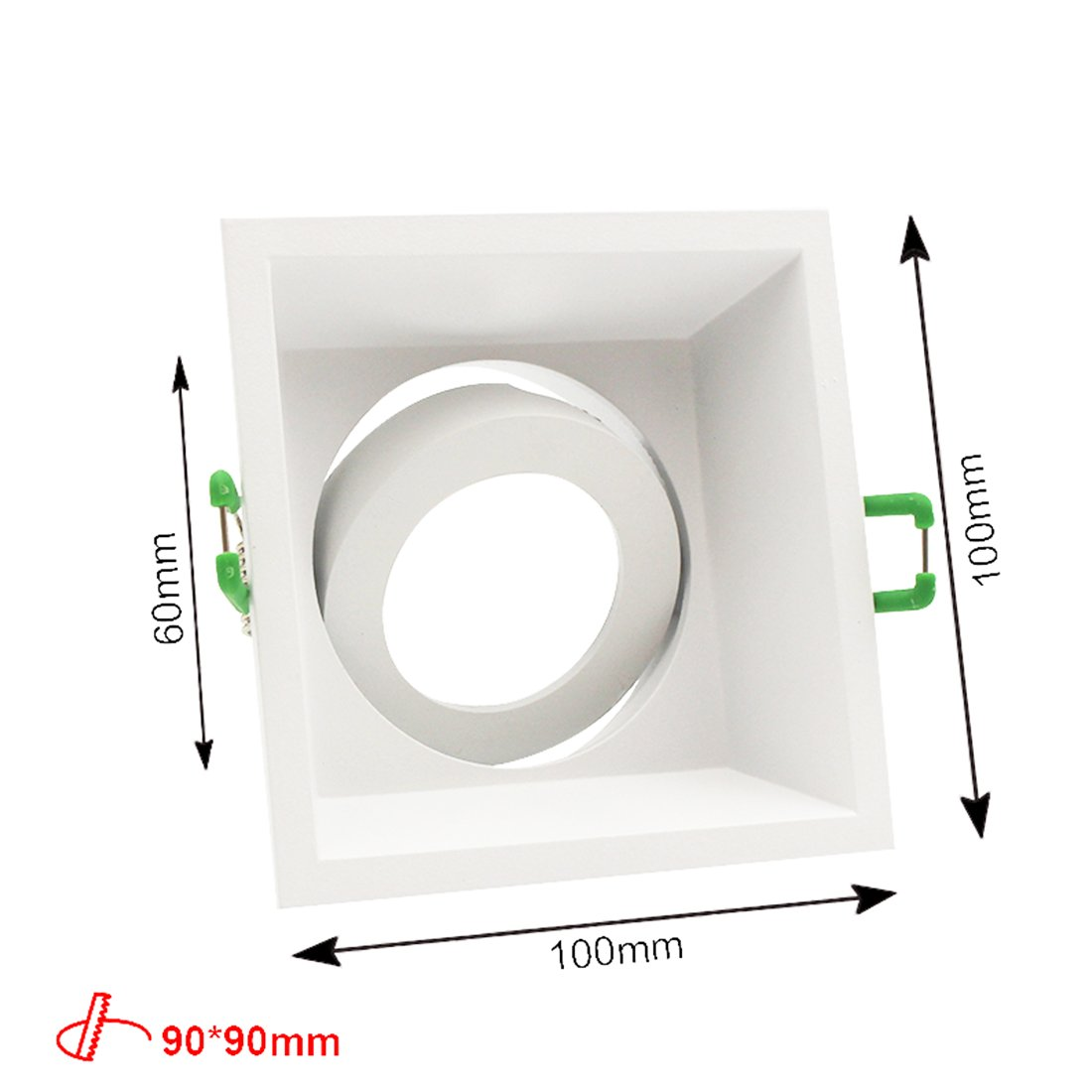 Recessed Can Light Trim Kit LED Downlight with 12V GU5.3 5W LED Bulb MR16 Socket Base,90mm Cut Out,Bulb Replaceable,Warm White,Angle Adjustable by LEDIARY (Image #3)