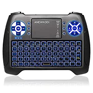 anewkodi mini keyboard with touchpad mouse and multimedia keys usb backlit wireless. Black Bedroom Furniture Sets. Home Design Ideas