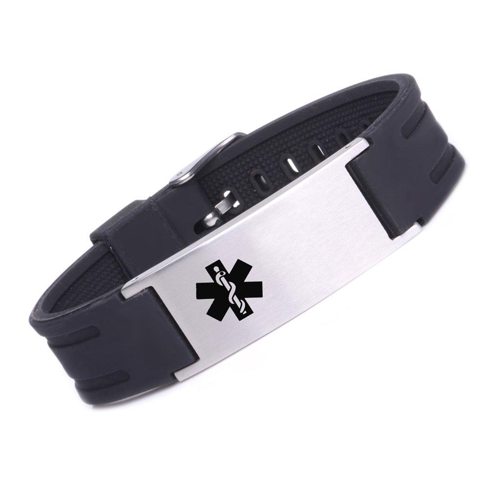Tarring Sports Medical Alert ID Bracelets for Men & Women