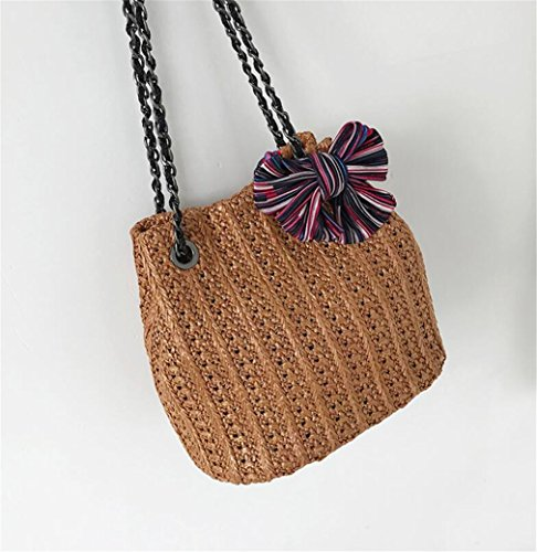 Z Summer Ladies Beach Bag And Handbag Straw Straw Shoulder Summer Brown Bag Dai ELEGENCE Travel FTd0qF