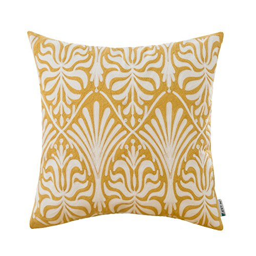 Yellow Floral Pillow - 6