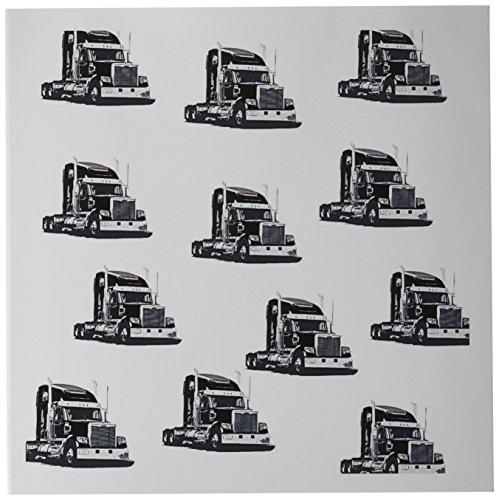 Haul Tractor (3dRose Print of Semi Long Haul Tractors Repeat Pattern Greeting Cards, 6